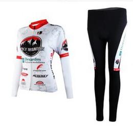 WOMEN'S SPRING CYCLING WEAR LONG JERSEY + PANTS 2012 ROCKY MOUNTAIN TEAM WHITE-PICK SIZE:XS-XXL R04
