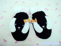 Wholesale Top Quality Cute Warm Gloves Candy Color Cartoon Gloves Plush Mitten Children Mitten P032