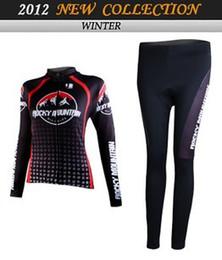 WOMEN'S WINTER FLEECE THERMAL CYCLING LONG JERSEY + PANTS 2012 ROCKY MOUNTAIN BLACK-PICK SIZE:XS-XXL R11