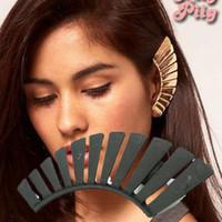 Wholesale vintage Back fan stud Ear Cuff clip on screw Earrings women men charms gift cheap fashion jewelry