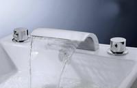 Wholesale faucet finish bathroom tap mixer waterfall bathtub