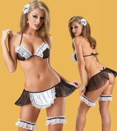Wholesale Lady s Sexy Servant Costume Women After Hours Maid Sexy Costume Kits S8449