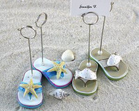 Wholesale Hot selling Beach Flip Flop Place Card Holders Photo Holders Wedding Favors