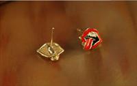 Alloy ear piercing studs - Charming Lips Earrings Stud Ear Piercing Studs