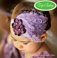 Wholesale Christmas Feather Headband Cute Girls Elastic Headband Rhinestone Headband Baby Hair Ornaments