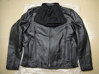 Wholesale men s Reflective road warrior genuine Leather Jacket VM motorcycle jacket