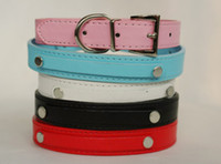 Wholesale colors Leather Dog Collars Cheap Personalized Dog collar for mm letters for puppy collar