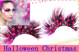 Wholesale High Quality Individual Charming Color Feather Fake Eyelashes