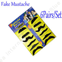 Wholesale 2012 New Hallowe Party Cosplay Fake Mustache DHL sets