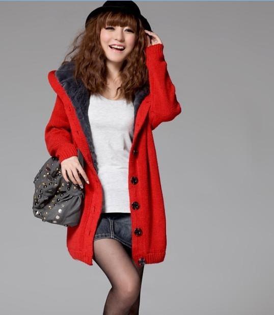 Womens Coats Plus Size Clothing Casual Wool Sweater Coat Hoodies ...