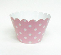 Wholesale 2inch cupcake wrappers cake cup cake Surrounding edge pink with white dot