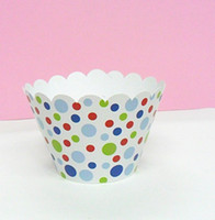Wholesale cupcake wrapper cake cup colorful cupcake box
