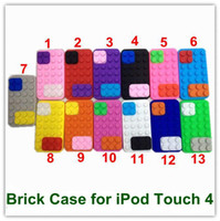 Wholesale EMS DHL Free Cool s Retro Case Brick Protective Case for iPod Touch