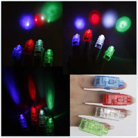 Wholesale New arrival LED Laser Finger Ring Beams Light toys Party Lamp christmas gift x Color led toys