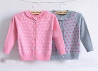 Halloween Girl 3T-4T upper outerwear baby long-sleeved polka dotted cardigans casual coats,girl's warm V-neck jackets nk