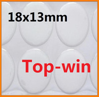 Pottery Tool epoxy resin - 18x13mm oval shaped epoxy stickers epoxy resin for bottle caps or necklace hand make self adhesive