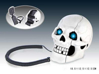 Wholesale Promotion Skull Designer with bones Novelty Home Phone Telephone Halloween gift