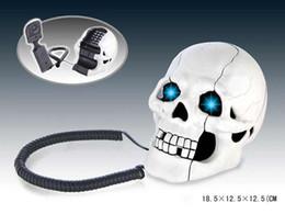 Promotion Skull Designer avec os cadeau nouveauté Home Phone Téléphone Halloween # 7087