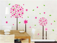 Wholesale Glass sided wall stickers Pandora tree wall stickers DIY Decoration Fashion Wall