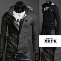 Wholesale Fashion Korean Men s Slim Fit Hoodie Sweater Male Top Jacket Coat Sweatshirt M L XL XXL XXXL