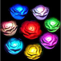 Wholesale Christmas romance roses colorful lights colorful rose lamp small lantern colorful gradient with