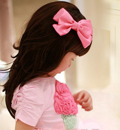 Wholesale Girls hair accessories hairpins Bows Flower Girls Grosgrain Bows Barrette Satin Flower Headbands