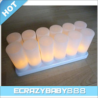 soy wax - 12pcs in1 Rechargeable Smokeless Candle LED Light Lights Lamp Electronic Candle Weddings Candles