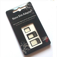Wholesale ALL in nano sim adapter for iphone s iphone5 convert phones sim devices set