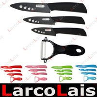 Wholesale 3 quot quot quot inch Fruit Utility Chef Kitchen Ceramic Knife Set Peeler Gift Black Red Green Blue Pink
