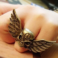 Wholesale Skull Ring Retro adjustable ring wedding ring Fashion Jewellery factory price