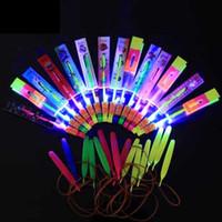Wholesale Christmas Gift LED amazing arrow Flying helicopter kids toys Space UFO LED Lighted up Toys