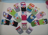 Textile apple crocheting - Cute Owl Crochet Handmade Knit Cell Phone Pouch Bag Covers by EMS