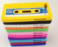 Plastic cassette case - DHL Tape Cassette case archaize soft silicone Gel skin cover Cases For Iphone G th
