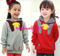 Wholesale phelfish hoodies children long sleeve tops kids clothing lovely cat autumn wears tdlzsz
