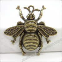 Wholesale Fashion Bee Charms Pendants Antique bronze zinc alloy Necklace Jewelry Craft