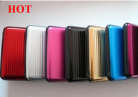 Wholesale 50pcs NEW USA HOT Sale Aluminum Card Case Wallet Holder Colors Metal