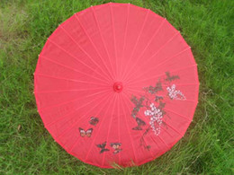 Wholesale hand made inches Chinese bamboo parasols Bridal wedding parasols Ladies umbrellas
