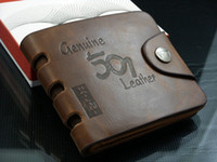 Wholesale Brand new Mens High Quality Leather Wallet Pockets Card Clutch Cente Bifold Purse