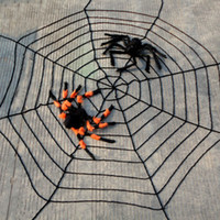 Wholesale Halloween props Spider cobwebs haunted house bar decorations meters Loops white black spider web
