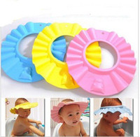 Wholesale Guaranteed New Fashion EVA foam Baby Child Kid Shampoo Bath Shower Wash Hair Shield Hat Cap