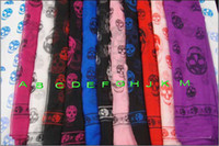 Square abc printing - 2012 New Arrival Fashion Skull Scarves Shawls Xmas Gift Best Selling ABC
