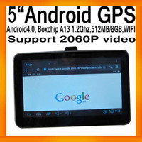Automotive andriod mid - Powerful inch HD Tablet PC MID UMPC Android GPS Navigation Boxchips A13 G MB GB FMT WIFI