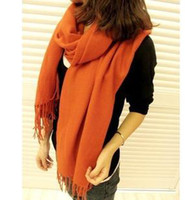 Wholesale white cotton scarf knit circle fur autumn winter fashion women scarve long style wool