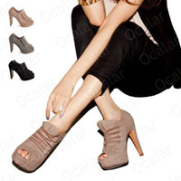 Wholesale New Women s Vogue High Heel Shoes platoon to buckle Ankle Sexy Boots Clolors XZ009