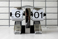 Wholesale 10pcs Retro Flip Desktop Clock Mechanical Gear Operated