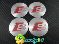 Wholesale 200pcs S Sline Red Line Aluminum Alloy Car Emblem Wheel Center Caps Cap Sticker Badge Badges Emblems