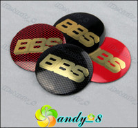 Wholesale 400pcs BBS Aluminum Alloy Car Emblem D Wheel Center Caps Cap Sticker Badge Badges Emblems wheel cap stickers