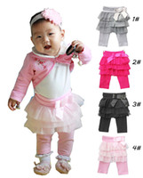 Wholesale Baby Girls Leggings Children Leggings Tights Kids Clothes Cute Girls Pants Trousers Wear
