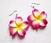 Wholesale New fashion mm hawaiian jewelry earring jewelry polymer clay flower earing