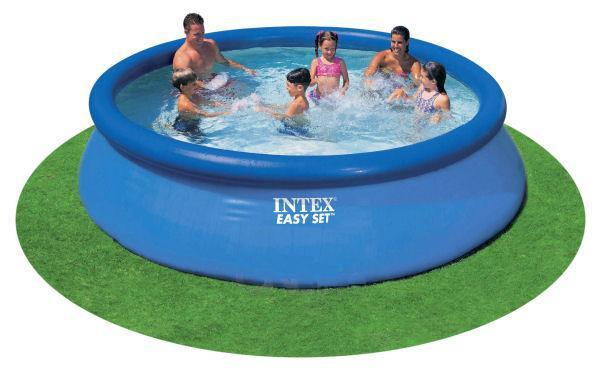 Easy set inflatable swimming pool with 5l foot pump large intex swimming water pool online Inflatable quick set swimming pool